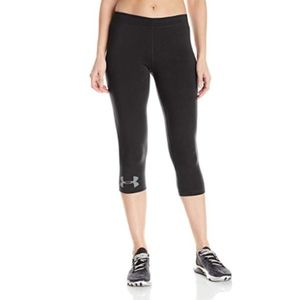 NEW Under Armour Leggings XS Black Tights Crop